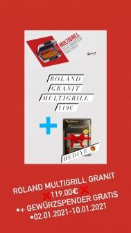 Roland Multigrill Granit Kontaktgrill Grill