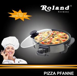 Elektrische Multifunktionspfanne Ø 42/9cm, Pizzapfanne/Partypfanne/Bratpfanne