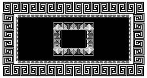 Roland 5er Teppich Set Waschbar 1038 BlackWhite