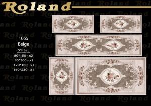 Roland 5er Teppich Set Waschbar 1055 Beige