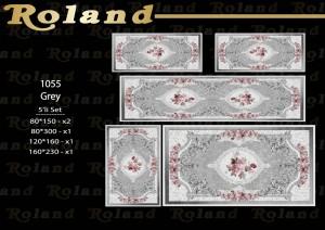 Roland 5er Teppich Set Waschbar 1055 Grey