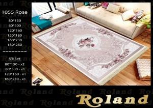 Roland 5er Teppich Set Waschbar 1055 Rose