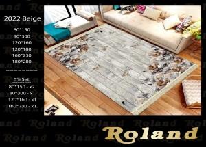 Roland 5er Teppich Set Waschbar 2022 Beige