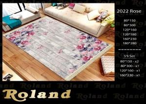 Roland 5er Teppich Set Waschbar 2022 Rose