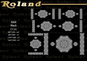 Roland 5er Teppich Set Waschbar 3000 Black