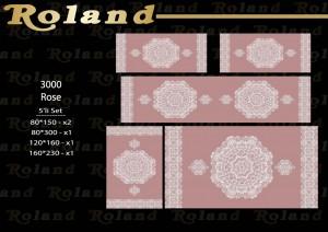 Roland 5er Teppich Set Waschbar 3000 Rose