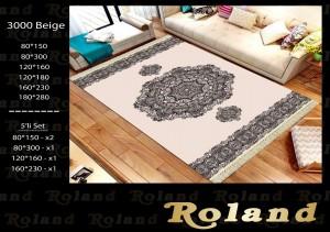 Roland 5er Teppich Set Waschbar 3000 Beige