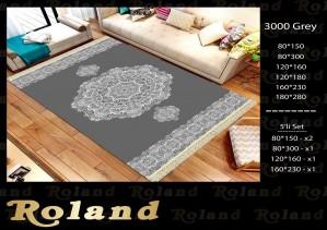 Roland 5er Teppich Set Waschbar 3000 Grey