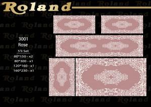 Roland 5er Teppich Set Waschbar 3001 Rose