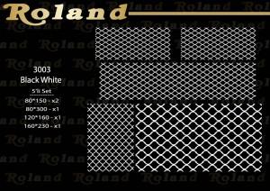 Roland 5er Teppich Set Waschbar 3003 BlackWhite