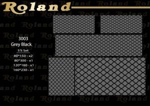 Roland 5er Teppich Set Waschbar 3003 Grey/Black