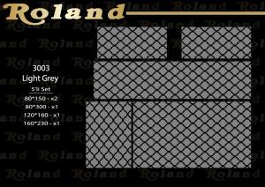 Roland 5er Teppich Set Waschbar 3003 Light Grey
