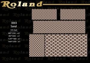 Roland 5er Teppich Set Waschbar 3003 Sand