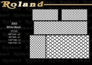 Roland 5er Teppich Set Waschbar 3003 WhiteBlack
