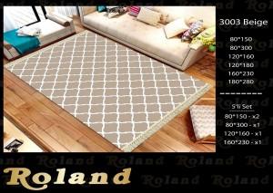 Roland 5er Teppich Set Waschbar 3003 Beige