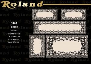 Roland 5er Teppich Set Waschbar 3102 Beige