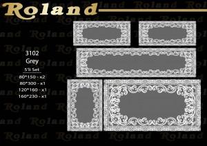 Roland 5er Teppich Set Waschbar 3102 Grey