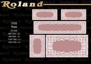 Roland 5er Teppich Set Waschbar 3102 Rose