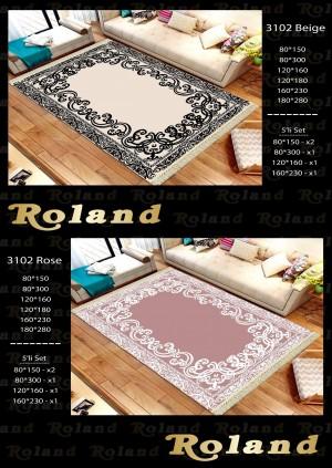 Roland 5er Teppich Set Waschbar 3102