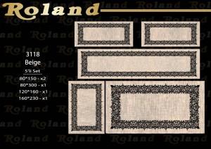 Roland 5er Teppich Set Waschbar 3118 Beige