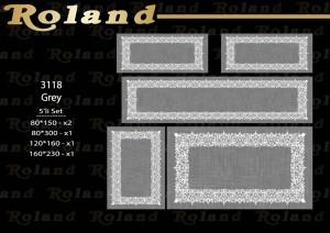 Roland 5er Teppich Set Waschbar 3118 Grey