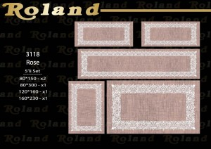 Roland 5er Teppich Set Waschbar 3118 Rose