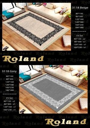 Roland 5er Teppich Set Waschbar 3118