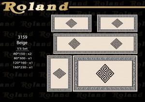 Roland 5er Teppich Set Waschbar 3159 Beige