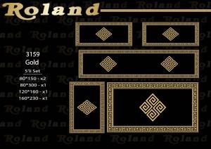 Roland 5er Teppich Set Waschbar 3159 Gold