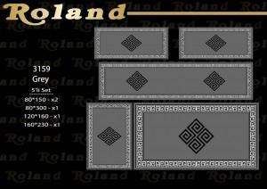 Roland 5er Teppich Set Waschbar 3159 Grey