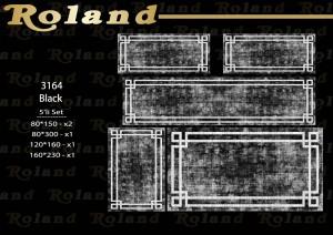 Roland 5er Teppich Set Waschbar 3164 Black