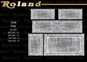 Roland 5er Teppich Set Waschbar 3164 Grey