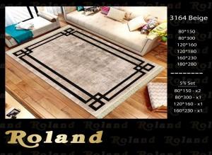 Roland 5er Teppich Set Waschbar 3164 Beige