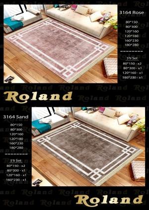 Roland 5er Teppich Set Waschbar 3164 Rose