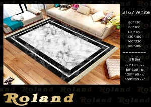 Roland 5er Teppich Set Waschbar 3167 White
