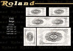 Roland 5er Teppich Set Waschbar 3182 Beige