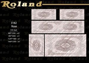 Roland 5er Teppich Set Waschbar 3182 Rose
