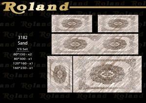 Roland 5er Teppich Set Waschbar 3182 Sand