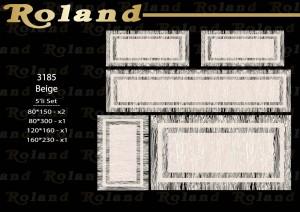 Roland 5er Teppich Set Waschbar 3185 Beige