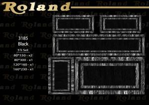 Roland 5er Teppich Set Waschbar 3185 Black