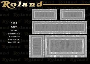 Roland 5er Teppich Set Waschbar 3185 Grey