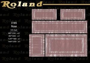 Roland 5er Teppich Set Waschbar 3185 Rose