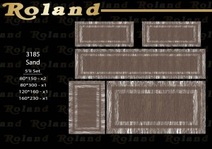 Roland 5er Teppich Set Waschbar 3185 Sand