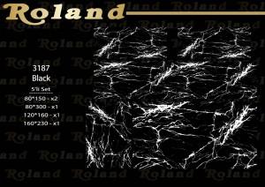 Roland 5er Teppich Set Waschbar 3187 Black