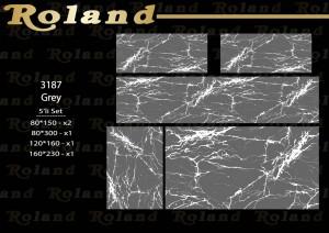 Roland 5er Teppich Set Waschbar 3187 Grey
