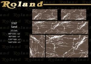 Roland 5er Teppich Set Waschbar 3187 Sand