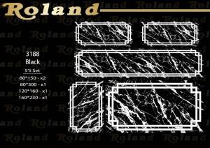 Roland 5er Teppich Set Waschbar 3188 Black