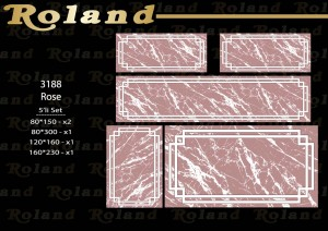 Roland 5er Teppich Set Waschbar 3188 Rose
