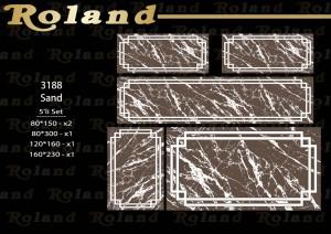 Roland 5er Teppich Set Waschbar 3188 Sand