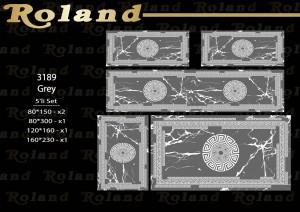 Roland 5er Teppich Set Waschbar 3189 Grey